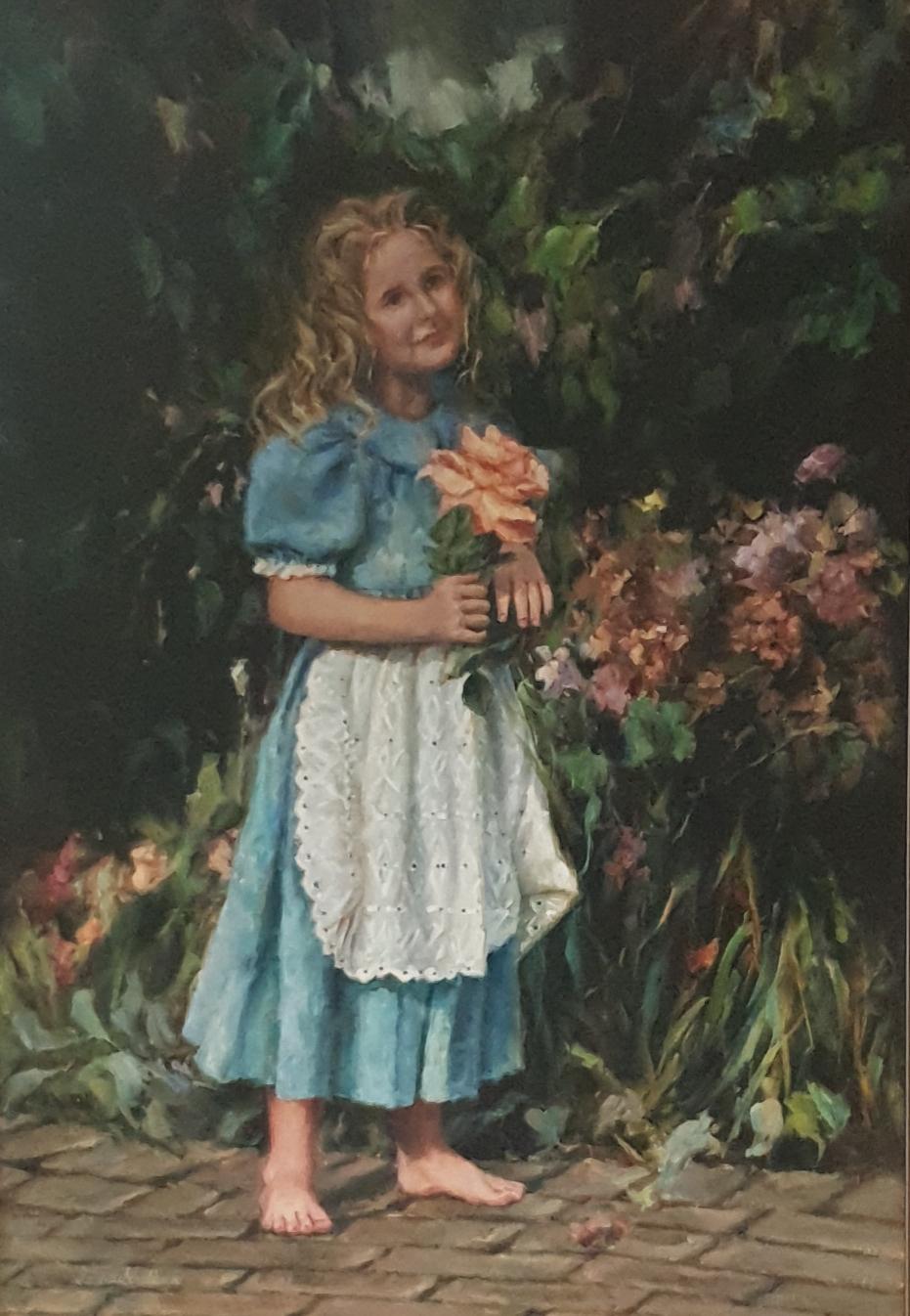 ina v schalkwyk girl met rose