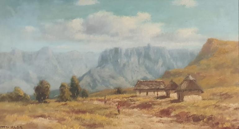 otto klar hutte landskap